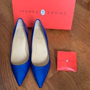 All Leather Electric Blue Pumps 6 1/2